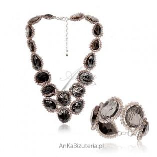 Elegancki Komplet Biżuterii z kamieniami naturalnymi