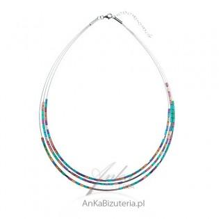 Biżuteria srebrna_ Naszyjnik srebrny z hematytem