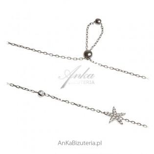 Bransoletka srebrna Rozgwiazda Biżuteria włoska