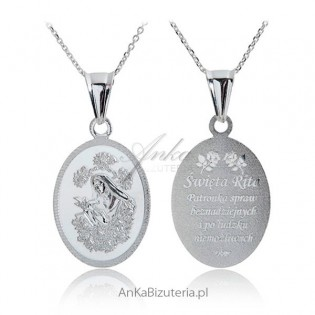 Medalik srebrny Św. Rita