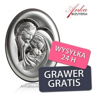 Pamiątki srebrne : Święta Rodzina - Grawer Gratis