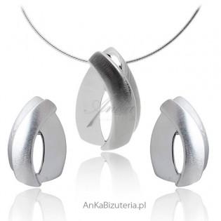 Biżuteria srebrna : Komplet biżuterii damskiej