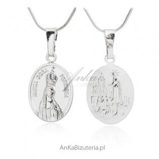 Medalik srebrny - Matka Boża Fatimska