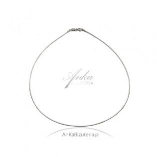 Łańcuszek srebrny rodowany -OMEGA - Łańcuszek pięknie się układa