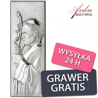 Papież Jan Paweł II - 8,2x23cm GRAWER