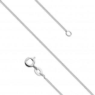 Łańcuszek srebrny rodowany Pancerka 0,3 - 40 cm, 45 cm, 50 cm