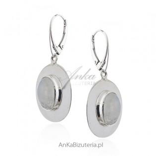 Biżuteria srebrna z kamieniem księżycowym - Rozm. S