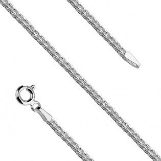 Łańcuszek srebrny rodowany SPIGA - biżuteria włoska