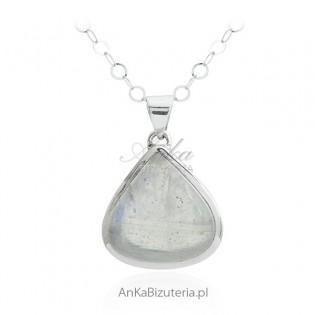 Piękna zawieszka srebrna z kamieniem księżycowym KAMIEŃ SZCZĘŚCIA