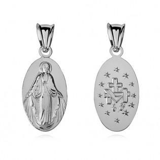 Srebrny medalik Matka Boska Cudowna