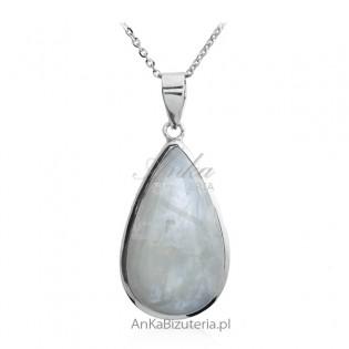 Zawieszka srebrna z kamieniem szczęścia - KAMIEŃ KSIĘŻYCOY