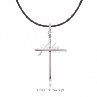 Prosty krzyżyk srebrny