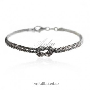 Biżuteria srebrna rodowana włoska
