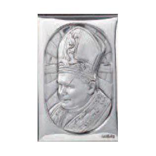 Dewocjonalia Papież Jan Paweł II - Srebrny obrazek