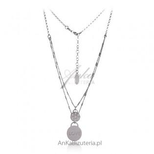 Naszyjnik srebrny. Biżuteria na Prezent dla dziewczyny