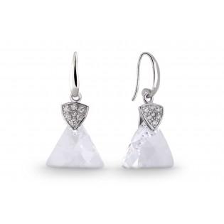 Eleganckie kolczyki srebrne Swarovski Biżuteria ślubna