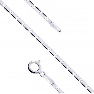 Łańcuszek srebrny rodowany 60 cm i 80 cm Snail LRO 8L
