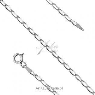 Łańcuszek srebrny rodowany 70 cm Cheval Rod . Łańcuszek włoski.