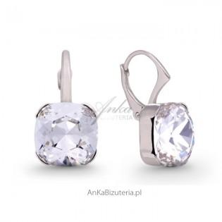 Swarovski biżuteria: Kolczyki srebrne z kryształami Swarovski