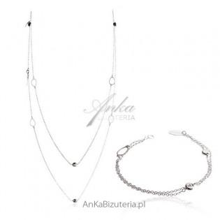 Komplet biżuterii włoskiej Modna biżuteria srebrna