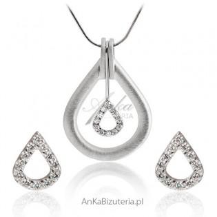 Komplet biżuterii srebrny
