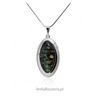 Biżuteria srebrna Zawieszka srebrna opal