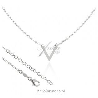 Modny naszyjnik srebrny V