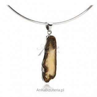 Biżuteria srebrna z bursztynem Oryginalna biżuteria