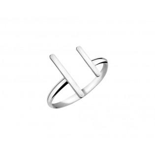 Pierścionek srebrny pałeczki