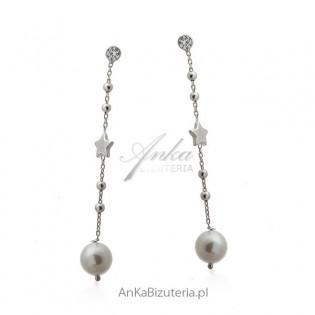 Kolczyki srebrne z perełkami