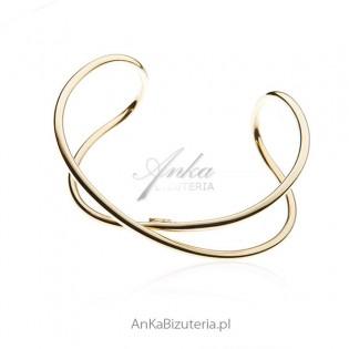 Bransoletka srebrna pozłacana Efektowna biżuteria