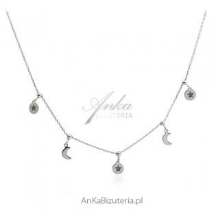 Srebrny naszyjnik choker - Modna biżuteria