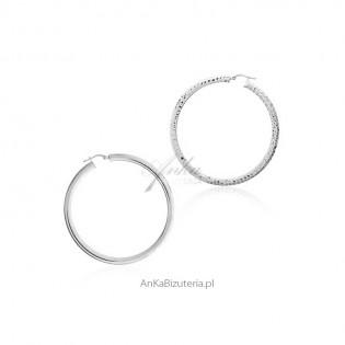 Kolczyki duże koła srebrne Biżuteria włoska