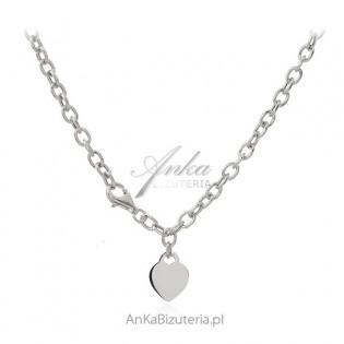 Naszyjnik srebrny SERCE oryginalna biżuteria włoska