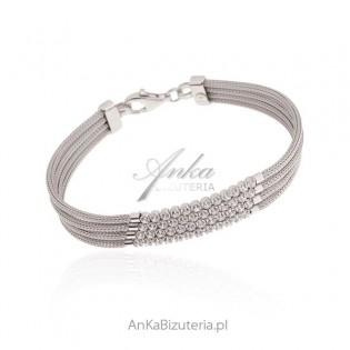 Ekskluzywna biżuteria srebrna z cyrkoniami