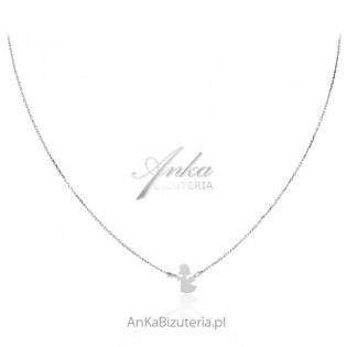 Naszyjnik srebrny z aniołkiem