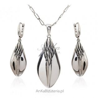 Biżuteria srebrna komplet KŁOS