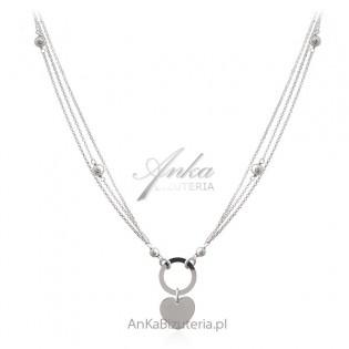 Srebrny naszyjnik z serduszkiem - Oryginalna biżuteria srebrna