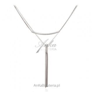 Srebrny naszyjnik Piękna biżuteria włoska - oryginalny design