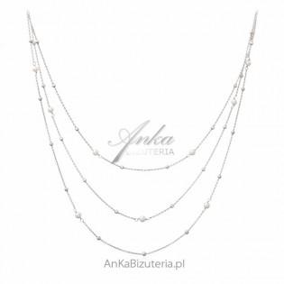 Srebrny naszyjnik z perełkami