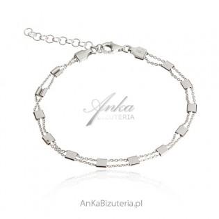 Bransoletka srebrna - biżuteria włoska