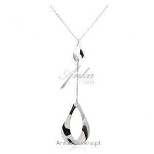 Srebrny naszyjnik -modna biżuteria srebrna