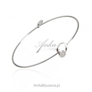 Bransoletka srebrna z maleńkimi cyrkoniami