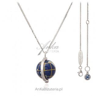 GLOBUS mały - World of Love - z lapis lazuli