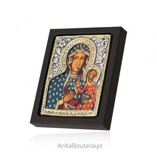 Ikona Matki Boskiej Częstochowskiej - w pudełku 6 cm/ 7 cm