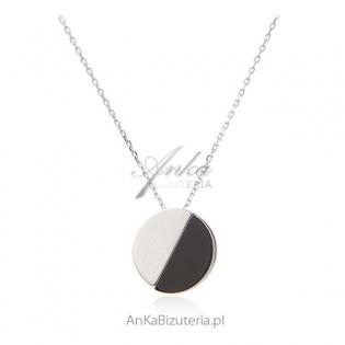Naszyjnik srebrny z czarnym onyksem