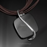 Silberschmuck - Silberanhänger mit Onyx