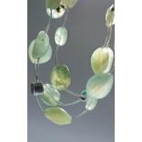 Silberne LEWANOWICZ-Perlen mit PRAHIMIT-Steinen