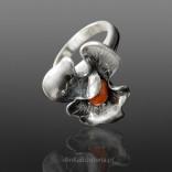 Silberschmuck - Silberring mit FLOWER-Koralle