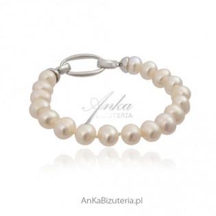 Piękna bransoletka z pereł w stylu lat 50. Coco Chanel